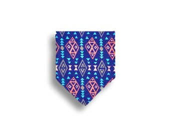 Drool Bib <<Coral & Navy Aztec> Neckerchief/Baby/Toddler Bandana/Scarf/Bib//Dark Blue//Light Blue//Pink//Gray//Arrow//Triangle