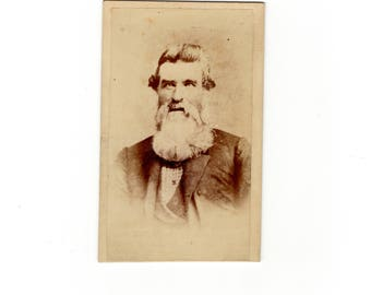 White beard, antique cdv photo