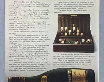 1980, 1981 Lot of 2 Remy Martin Cognac Print Ads - Le Passe Temps