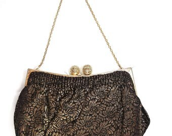 Black and Gold Vintage Clutch