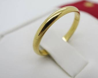 Size 5 ~ CARTIER WEDDING RING ~ 2.5mm, 18kt Yellow Gold