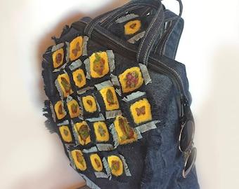 Women Backpack Laptop Backpack Bag Canvas Backpack Everyday fabric Backpack Stylish Daily backpack Denim backpack Blue Student Backpack bag