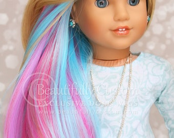 "Rainbow Treasures Deluxe Elegance 10-11 Doll Wig by ©BC *Heat Safe 350F* - American Girl, Gotz, Journey Girl, Our Generation, 18"" Doll Size"