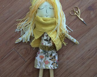 Flax Cloth Art Doll
