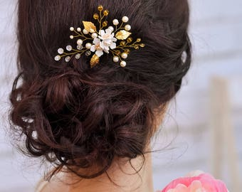 Bridal hair pins Crystal hair pins Wedding hair clip Rhinestone hairpin Wedding bobby pins Flower hair accessory Wedding floral hair pins