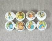 Beatrix Potter boutons, boutons en bois, tiroir poignées, boutons de commode, 3,5 cm Sets de diamètre disponible. Emballage cadeau gratuit!