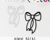 PERMANENT Vinyl Bow Decal (perfect for ECLP, Happy Planner, Filofax, Travelers Notebooks, Kikki K, Passion Planner, etc.)