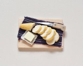 Dollhouse Bread | Miniature Sliced Baguette