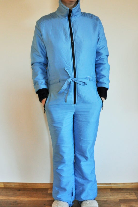 Vintage One Piece Skiing Suit / Ski / Suit / Light / Blue / Jacket / Small / S / Onepiece / Jumpsuit / Skiing / Costume / Overall yn4Zm