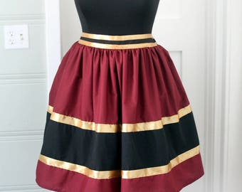 Hollywood Tower of Terror Bellhop Twilight Zone  Burgundy Red Bounding skirt in regular and plus sizes 2-32+