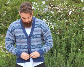 jacquard sweater_patternsmen's wool cardigan__wool sweater_knitwear menswear_Mens jacket, Mens cardigan_Vintage mens jacket_V neck jacket
