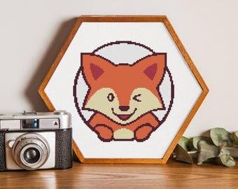 Raccoon cross stitch pattern,Nursery cross stitch,Animal cross stitch pattern #28