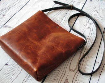 Brown crossbody bag, real leather, brown crossbody, cross body, shoulder bag, leather purse, distressed leather