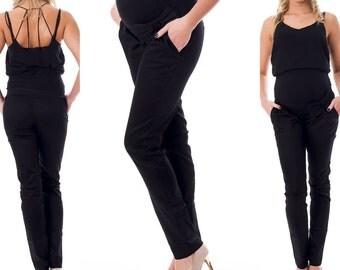 Maternity trousers tube Trousers loop pants