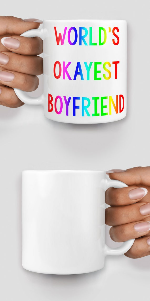 World's okayest boyfriend mug - Christmas mug - Funny mug - Rude mug - Mug cup 4P075