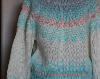 Mint glitter sweater | Etsy