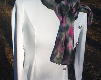 pink silk scar/scarves and wraps/silk scarf/handpainted scarves/long scarves/pink scarf/accessories scarves/tie dyed silk scarf/fall scarf