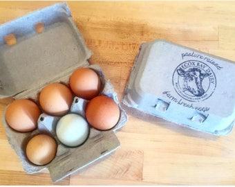 Custom Logo Egg Carton Stamp - Farm Logo Rubber Stamp - Egg Carton Label - Farm Stamp - Custom Rubber Stamp - Chicken Egg Cartons