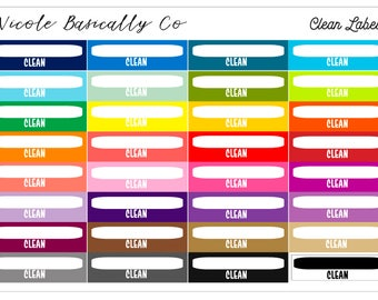 Rainbow Clean Labels Planner Stickers