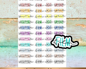 YouTube Script Planner Stickers- YouTube, Print, Edit, Upload