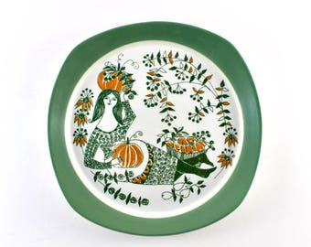 Stavangerflint - Figgjo flint - Turi design - ceramic plate from the serie Siclia - Made in Norway.