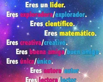 Spanish Classroom Poster - Eres