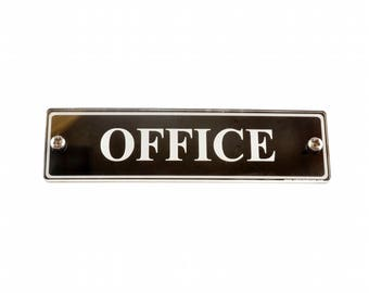 Office Door Sign. Large Size Contemporary Design Supplied with Fixings