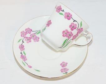 Colclough Tea cup Saucer England Bone China Signed  - 1378