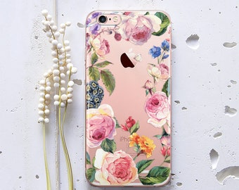 iPhone 6 Case Floral Samsung Galaxy Note 5 Case iPhone 5 Case Clear Case Cute iPhone Case iPhone 6s Case Phone iPhone 7 Samsung Case 218
