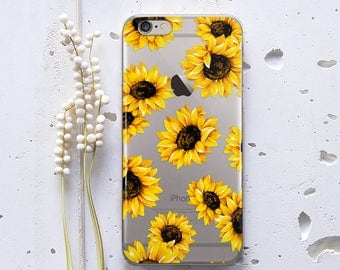 iPhone 7 Case iPhone 6 Case iPhone 6s Case Sunflowers iPhone SE Case Floral for Samsung Galaxy S6 Case Phone Case for Samsung Note 5 WC109