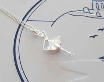 Ballerina Necklace, Sterling Silver Ballet Necklace, Ballet Charm, Gift For Her, Alexia Jewellery