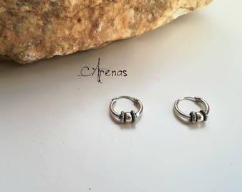 Silver Hoops - Silver Earings - Hoops Tribal - Hoops Earrings - Hoop Earring - Boho Hoop - Ethnic Hoop
