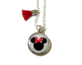 CHILD NECKLACE - Kid Necklace - Disney Mickey Mouse Necklace - Minnie necklace - Kids Jewelry - Girls necklace