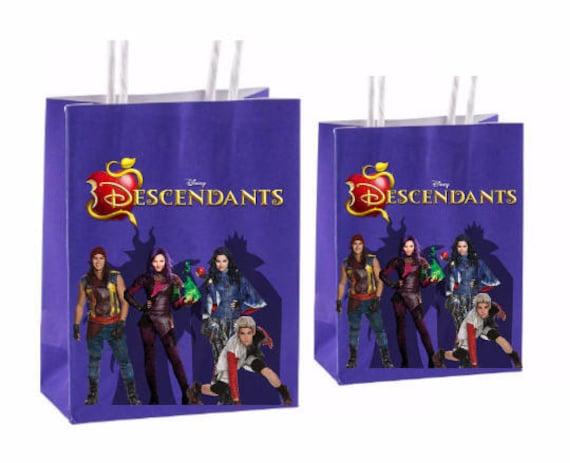 Disney Descendants Party Favor Bags Instant Download