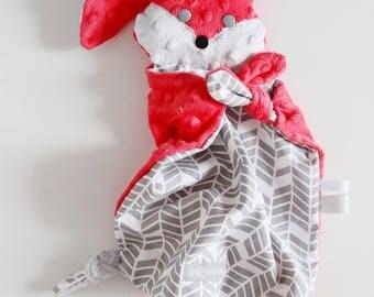 "Great blanket pattern ""Rabbit pink Tagada"" birth gift."