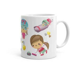 Winter Games Mug Girl