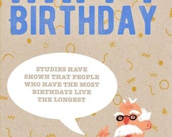 Funny Birthday Card, Birthday Card Dad, Birthday Card For Him, 30th Birthday, Funny Quote Card, Rude Card, Happy Birthday Dad Card
