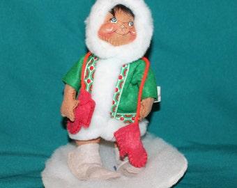 Vintage Annalee Doll Eskimo Winter Holiday Christmas 1989