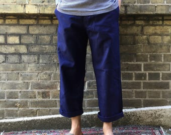 Vintage French Worker's Chore Trousers/ Pants