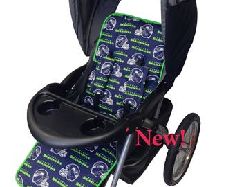Seahaws Stroller Liner-Reverses to Navy Minky