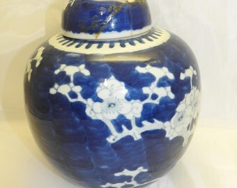 Chinese large size blue and white  ginger jar