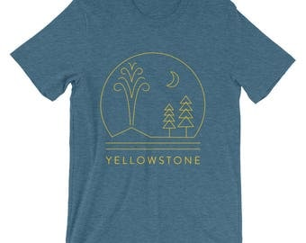 Yellowstone National Park T-Shirt featuring Old Faithful