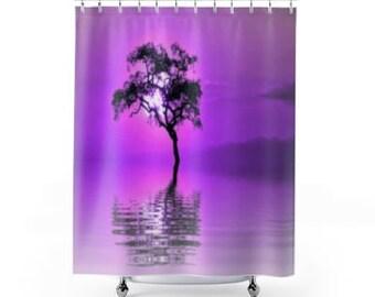 shower curtain, purple shower curtain, bathroom decor, ocean bath curtain, custom shower curtain, shower curtain purple, shower liner