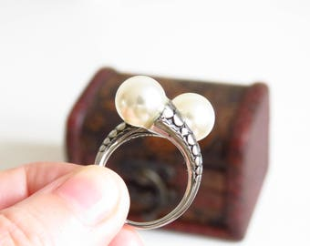 Daenerys Ring, Khaleesi ring, Game of Thrones Jewelery, Mother of Dragons, Daenerys Cosplay, Pearl ring.