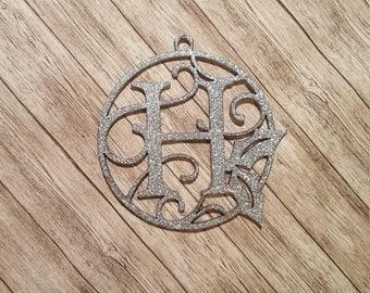 Single Letter Monogram Ornament, Personalized Christmas Ornament, Wooden Ornament, Christmas Ornaments, Laser Ornament, Laser Monogram