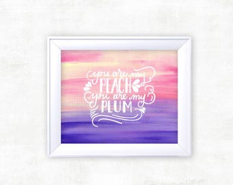 "THE FRONT BOTTOMS ""Peach"" Ombre Acrylic Lyric Print"