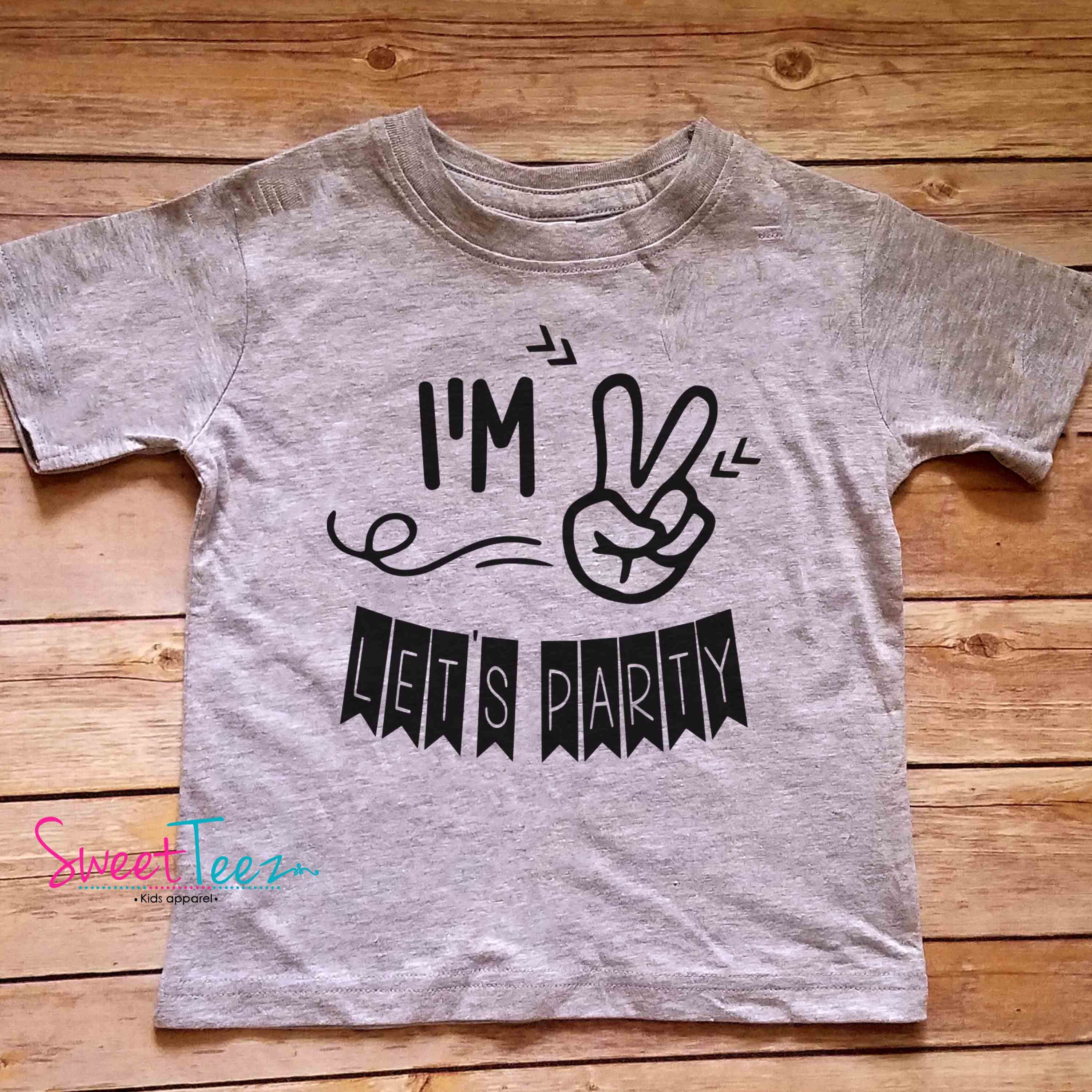 2nd Birthday Shirt Im 2 Lets Party Second Boy Girl Heather