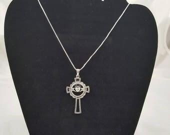 Celtic Claddagh Cross Pendant