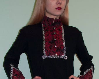 Fantasy tunic Medieval renaissance clothing Elven tunic Fairy clothing Medieval Tunic renaissance shirt LARP renaissance lady Baroque woman
