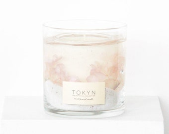 The Botanical Collection ~ Izu Cape Jasmine (Soft Floral Pink) - Scented Candle - Gift - Mother's Day Gifts -  Gifts for her